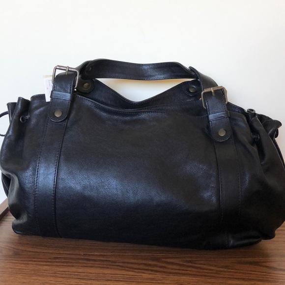 Gerard Darel 24 HR Bag in Black Leather NWT NWT